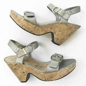 Sbicca Wedge Heel Sandals Bethany size 8.5